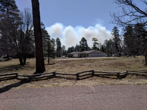 Smoke from Tinder Fire