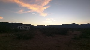 Sunset in Camp Verde.