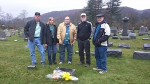 Mom and Dad's gravesite surrounded by their children.