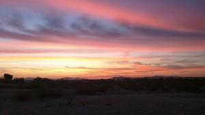 An Arizona sunrise.