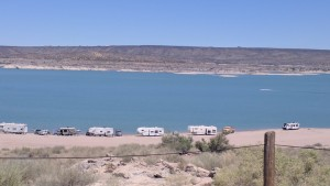 Elephant Butte Lake.