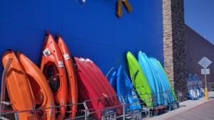 Walmart has a good selection of Kayaks.